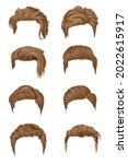 cool men's hairstyles  modern... | Shutterstock .eps vector #2022615917