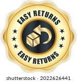 easy returns vector logo. trust ... | Shutterstock .eps vector #2022626441