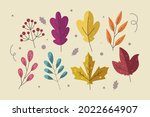 autumn leaves collection....   Shutterstock .eps vector #2022664907
