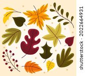 autumn leaves collection....   Shutterstock .eps vector #2022664931