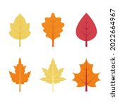autumn leaves collection....   Shutterstock .eps vector #2022664967