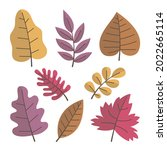 autumn leaves collection....   Shutterstock .eps vector #2022665114