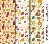 autumn leaves pattern. autumn... | Shutterstock .eps vector #2022678971