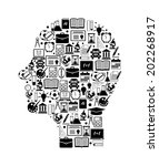 background with education icons | Shutterstock .eps vector #202268917