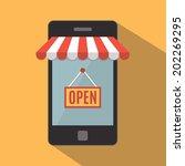 mobile phone. mobile store... | Shutterstock . vector #202269295