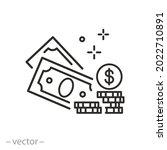 cash money icon  wealth or... | Shutterstock .eps vector #2022710891