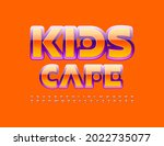 vector bright logo kids cafe.... | Shutterstock .eps vector #2022735077