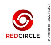 red circle logo with red color. ... | Shutterstock .eps vector #2022741524