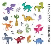 funny dinosaurs as cute... | Shutterstock .eps vector #2022774191
