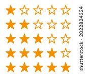 star rating icons vector. set...