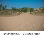 Landscape Of A Sand Dune With...