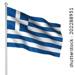greece flag   computer... | Shutterstock . vector #202288951