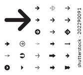 arrow sign vector icon set.... | Shutterstock .eps vector #202290091