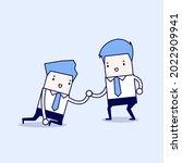 businessman helping another....   Shutterstock .eps vector #2022909941