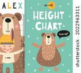 kids height chart with cute...   Shutterstock .eps vector #2022963311