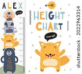 kids height chart with cute...   Shutterstock .eps vector #2022963314
