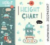 kids height meter with cute...   Shutterstock .eps vector #2022963347