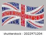 mosaic waving united kingdom... | Shutterstock .eps vector #2022971204