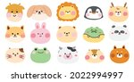 zoo.pets.set of cute animals... | Shutterstock .eps vector #2022994997