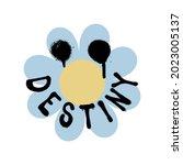 urban graffiti flower print...   Shutterstock .eps vector #2023005137