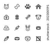 pet icons  vector. | Shutterstock .eps vector #202300591