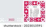 fashionable desktop calendar...   Shutterstock .eps vector #2023013591