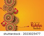 happy raksha bandhan with...   Shutterstock .eps vector #2023025477