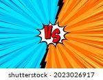 cartoon comic background. fight ... | Shutterstock .eps vector #2023026917