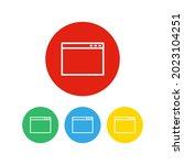 set of 4 icons. empty webpage...