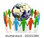 world partnership 3d... | Shutterstock . vector #20231284