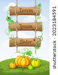 vertical autumn background with ...