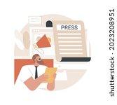 press abstract concept vector...
