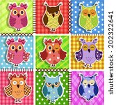 Patchwork With Owls. Baby...