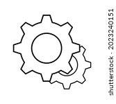 setting gear vector icon design ...   Shutterstock .eps vector #2023240151