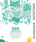 esg concept of environmental ...   Shutterstock .eps vector #2023272044