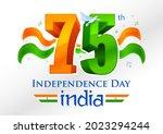 illustration of tricolor banner ... | Shutterstock .eps vector #2023294244