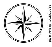 black white star   compass