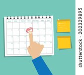 calendar infographic ... | Shutterstock .eps vector #202329895