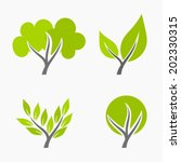 set of trees icons. vector...   Shutterstock .eps vector #202330315