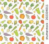 vector seamless pattern with... | Shutterstock .eps vector #202334011