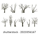 A Set Of Trees Without Foliage. ...