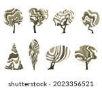 a set of trees with an unusual... | Shutterstock .eps vector #2023356521