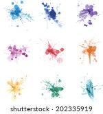 Vector Ink Paint Splat Colors...