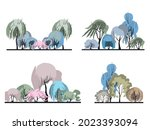 A Set Of Groups Of Plants With...