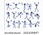 people activity  icons in... | Shutterstock .eps vector #202339897