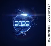 happy new 2022 year. futuristic ... | Shutterstock .eps vector #2023404617