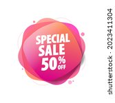 special sale 50  off shopping...   Shutterstock .eps vector #2023411304