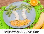 Fun Food. Palm Trees Made From...