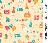 cute festive background. vector ... | Shutterstock .eps vector #2023418834