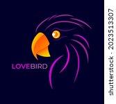 love bird of logo design with... | Shutterstock .eps vector #2023513307